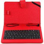 DURAGADGET Etui aspect cuir rouge avec clavier AZERTY français intégré pour Archos 70c Titanium, 70 Xenon Color, 70b et 70c Xenon + stylet tactile BONUS - Garantie 2 ans de la marque Duragadget image 1 produit