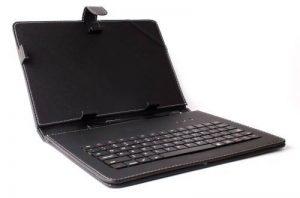 DURAGADGET Etui clavier QWERTY pour tablettes Microsoft Surface Pro et RT tous modèles (1 et 2) - aspect cuir noir avec port de maintien intégré + stylet tactile BONUS - Garantie 2 ans de la marque Duragadget image 0 produit