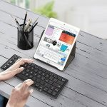 EC Technology Clavier Pliable Mini Bluetooth Tri-pliage portatif Clavier AZERTY Bluetooth sans Fil Ultra-mince pour iOS, Android, iphone, iphone 8, ipad, samsung, Windows, PC, Tablettes et Smartphones de la marque EC TECHNOLOGY image 5 produit
