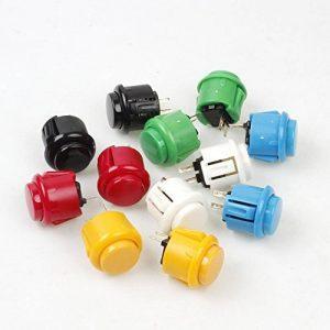 EG Starts 12x 24mm oEM Arcade Button Switch Perfect sostituisci pour Sanwa obsf-24Push Button DIY Fighting Stick PC Joystick games parts (chaque couleur de 2pièces) de la marque EG STARTS image 0 produit