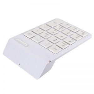 ELEGIANT Pavé Numérique USB Sans fil 19 touches USB Wireless pour MacBook Ordinateur Portable PC Compatible avec le système Windows IOS X blanc de la marque Elegiant image 0 produit