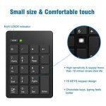 Ensemble clavier numérique et souris 2.4G, clavier numérique 19 touches et souris sans fil avec mini-récepteur USB 2.4G Alcey pour ordinateur portable de bureau PC, noir de la marque Alcey image 1 produit