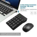 Ensemble clavier numérique et souris 2.4G, clavier numérique 19 touches et souris sans fil avec mini-récepteur USB 2.4G Alcey pour ordinateur portable de bureau PC, noir de la marque Alcey image 5 produit