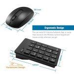 Ensemble clavier numérique et souris 2.4G, clavier numérique 19 touches et souris sans fil avec mini-récepteur USB 2.4G Alcey pour ordinateur portable de bureau PC, noir de la marque Alcey image 3 produit