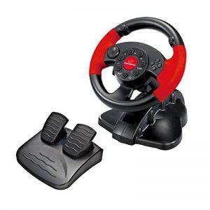 Esperanza Volant de jeux vidéo avec pédales d'accélération/de frein PS2/PS3/PC noir de la marque Esperanza image 0 produit