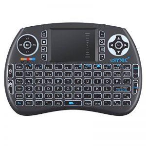 ESYNIC Mini Clavier Rétroéclairé Sans Fil (AZERTY) avec Touchpad pour Xbox 360, Freebox, Box Android TV, PC, Smart TV, Raspberry Pi, PS3,Vidéo-Projecteur de la marque eSynic image 0 produit