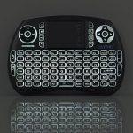 ESYNIC Mini Clavier Rétroéclairé Sans Fil (AZERTY) avec Touchpad pour Xbox 360, Freebox, Box Android TV, PC, Smart TV, Raspberry Pi, PS3,Vidéo-Projecteur de la marque eSynic image 1 produit