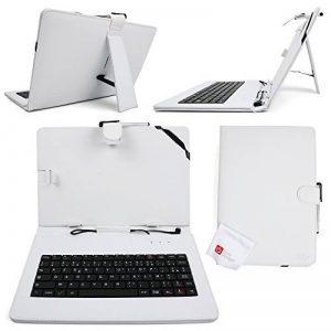 """Etui 7 POUCES blanc + clavier intégré AZERTY pour tablette tactile Acer Iconia A1-810-81251G00NW et A1-811-83891G01NW 7"""" + stylet tactile BONUS, par DURAGADGET de la marque Duragadget image 0 produit"""