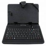 """Etui 7 POUCES noir + clavier intégré AZERTY pour tablette Auchan Qilive Q4 Android 8"""" 4G et Qilive Q.3004 7"""" + stylet tactile BONUS, par DURAGADGET de la marque Duragadget image 4 produit"""