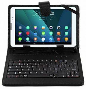 """Etui aspect cuir + clavier AZERTY intégré pour Acer Iconia W3-810, W4-820, A1-810, A1-811, A1-830 tablettes 8"""" - stylet + chiffon DURAGADGET bonus et garantie de 5 ans de la marque Duragadget image 0 produit"""
