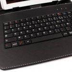 """Etui aspect cuir + clavier AZERTY intégré pour Acer Iconia W3-810, W4-820, A1-810, A1-811, A1-830 tablettes 8"""" - stylet + chiffon DURAGADGET bonus et garantie de 5 ans de la marque Duragadget image 3 produit"""