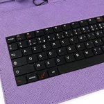 """Etui aspect cuir violet + clavier intégré AZERTY pour Samsung Galaxy Tab 3 V SM-T116NU et Lite 7.0 VE SM-T113 7"""" (Attention uniquement compatible pour ces versions) - tablette tactile 7 pouces + stylet tactile BONUS, par DURAGADGET de la marque Duragadget image 1 produit"""