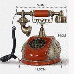 FACAIG Accueil Artisanat rétro style ancien téléphone de bureau personnalisé ID appelant chambre à coucher, salle de séjour avec des décorations, des boutons-poussoir de la marque FACAIG image 1 produit