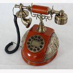 FACAIG Accueil Artisanat rétro style ancien téléphone de bureau personnalisé ID appelant chambre à coucher, salle de séjour avec des décorations, des boutons-poussoir de la marque FACAIG image 2 produit