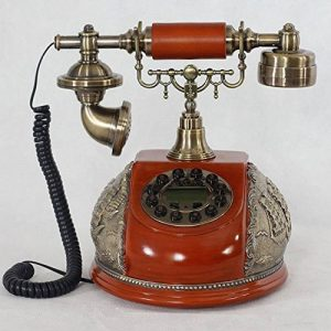 FACAIG Accueil Artisanat rétro style ancien téléphone de bureau personnalisé ID appelant chambre à coucher, salle de séjour avec des décorations, des boutons-poussoir de la marque FACAIG image 0 produit