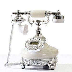 FACAIG Accueil rétro Téléphone de bureau, Style européen, Creative accueil,l'identification de l'appelant, chambre à coucher, salle de séjour, avec boutons-poussoir de la marque FACAIG image 0 produit