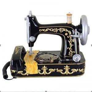 FACAIG Accueil Téléphone de bureau Style machine à coudre antique de personnalité avec boutons poussoir Retro Téléphone Artisanat de la marque FACAIG image 0 produit