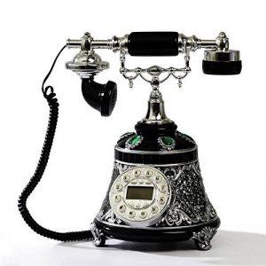 FACAIG Retro craft, Téléphone de bureau d'accueil, la personnalité,chambre à coucher, salle de séjour avec des décorations, des boutons-poussoir de la marque FACAIG image 0 produit