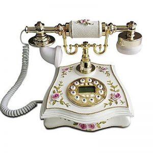 FACAIG Retro Phone,l'identification de l'appelant, Mains libres, avec rétroéclairage intelligent, créatif, à la maison de décor avec boutons-poussoir de la marque FACAIG image 0 produit