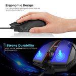 Gvoo Souris Filaire, Souris Suivi Optique Gaming Mouse Haute Définition USB Souris de Jeu 3 Boutons 1000 DPI pour PC Laptop Ordinateur - Noir de la marque Gvoo image 2 produit