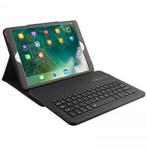 Housse de Clavier Bluetooth, Olycism Clavier Etui en Cuir PU Equipe d'une Support pour iPad Pro 10.5(Noir) de la marque Olycism image 0 produit