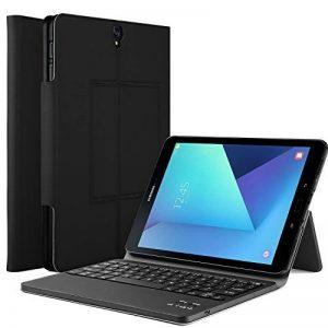 Housse support avec clavier QWERTY Bluetooth détachable pour tablette Samsung Galaxy Tab S3 9.7 SM-T820/T825 Noir de la marque iBetter image 0 produit