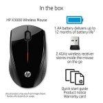 HP X3000 Souris sans fil 2.4GHz Noir de la marque HP image 3 produit