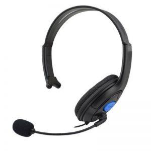 HuntGold Casque écouteur unilatéral avec MIC Vol contrôle pour Sony Playstation 4 PS4 de la marque HuntGold image 0 produit