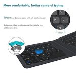 iClever Clavier Bluetooth Ultra Compact Clavier AZERTY Ergonomique Sans Fil Clavier Universel Pliable pour iPhone 7/7 plus, Android, IOS, Smart Phones, ipade, Tablette, IC-BK06 de la marque iclever image 3 produit