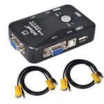 ieGeek Switch KVM USB Box + Câbles VGA USB pour PC Moniteur / Clavier / Souris Contrôle (2 Ports) de la marque ieGeek® image 1 produit