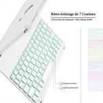 iEGrow Apple Bluetooth Clavier Étui F8Spro 9.7 Couleurs LED Rétroéclairé pour iPad Pro 9.7 Pouces [AZERTY français] Argenté de la marque iEGrow image 2 produit