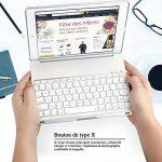 iEGrow Apple Bluetooth Clavier Étui F8Spro 9.7 Couleurs LED Rétroéclairé pour iPad Pro 9.7 Pouces [AZERTY français] Argenté de la marque iEGrow image 4 produit