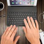 iEGrow Apple Bluetooth Clavier Étui F8Spro 9.7 Couleurs LED Rétroéclairé pour iPad Pro 9.7 Pouces [AZERTY français] Noir de la marque iEGrow image 4 produit