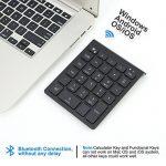 IKOS pavé numérique Bluetooth sans fil à 28 touches pour Windows /Android/ Mac OS/ iOS Device, Such as ordinateur portable, ordinateur de bureau, Surface Pro, Apple, iMac/ Mac , MacBook, Samsung, tablette Android et smartphone de la marque IKOS image 1 produit