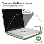 iPad 2 3 4 Étui clavier, COOPER KAI SKEL P1 Coque clapet et clavier Bluetooth sans fil comme ordinateur Macbook avec batterie externe rechargeable pour Apple iPad 3 2 1 Argent de la marque Cooper Cases image 2 produit