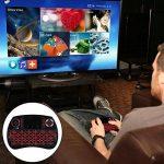 iPazzPort 2.4Hz Mini Clavier Français Sans Fil (AZERTY) - Rétro-éclairé Clavier Mini Wireless Keyboard Rechargeable avec souris Touchpad - Pour Smart TV, mini PC, HTPC, Console, TV Box, Ordinateur de la marque iPazzPort image 3 produit