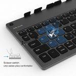 Jelly Comb Clavier Bluetooth Pliable Ultra-Mince avec Support pour Smartphone Tablette Ordinateur-Gris Foncé de la marque Jelly Comb image 4 produit
