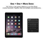Jelly Comb Clavier Pavé Numérique Bluetooth Ultra-Mince avec 28 Touches pour Ordinateur PC Smartphone Tablette-Noir de la marque Jelly Comb image 1 produit