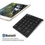Jelly Comb Clavier Pavé Numérique Bluetooth Ultra-Mince avec 28 Touches pour Ordinateur PC Smartphone Tablette-Noir de la marque Jelly Comb image 4 produit