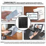 Jelly Comb Clavier Pavé Numérique Bluetooth Ultra-Mince avec 28 Touches pour Ordinateur PC Smartphone Tablette-Noir de la marque Jelly Comb image 6 produit