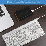 Jelly Comb Ensemble Clavier Souris AZERTY Sans Fil Rechargeable Ultra-Mince, Argent de la marque Jelly Comb image 4 produit