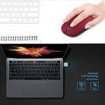 Jelly Comb Souris Sans Fil Silencieuse 2,4 GHz Pour Ordinateur Macbook Tablette, Noir et Rouge de la marque Jelly Comb image 4 produit