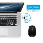 JETech Souris Mobile sans fil 2.4GHz souris sans fil avec récepteur Nano USB 12mois Durée de vie de la batterie de la marque JETech image 3 produit