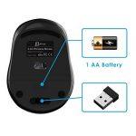JETech Souris Mobile sans fil 2.4GHz souris sans fil avec récepteur Nano USB 12mois Durée de vie de la batterie de la marque JETech image 4 produit