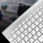 JOYACCESS Ensemble Clavier AZERTY + Souris sans fil - Saisie silencieuse - Ultra mince, fin, Récepteur USB Compact Pour ordinateur – Argent+Blanc de la marque JOYACCESS image 3 produit