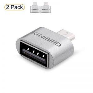 KiWiBiRD Adaptateur OTG Micro USB (male) vers USB 2.0 (femelle) à haute vitesse pour téléphones intelligents /tablettes Android avec fonction OTG - ***Paquet de 2*** de la marque KiwiBird image 0 produit