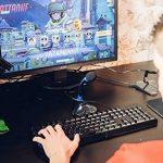 KLIM Chroma Clavier Gamer AZERTY FRANÇAIS Filaire USB - Haute Performance - [ Version 2018 ] Éclairé chromatique Gaming Noir RGB PC Windows, Mac de la marque KLIM image 3 produit