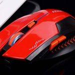 KLIM Souris Gaming Sans Fil Azzor 2400 DPI - Haute Précision - Clic silencieux- Rouge et Noir de la marque KLIM image 2 produit