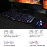 Koolertron Clavier Gaming Trois Couleurs Rétroéclairage en AZERTY Touches Multimédia avec Souris rètroeclairage de la marque Koolertron image 4 produit