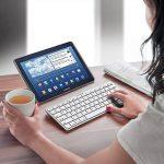 kwmobile Clavier Bluetooth sans fil - Clavier allemand QWERTZ - Keyboard pour par ex. ordinateur PC tablette - Compatible Mac iOS iPad Windows - Blanc de la marque kwmobile image 1 produit